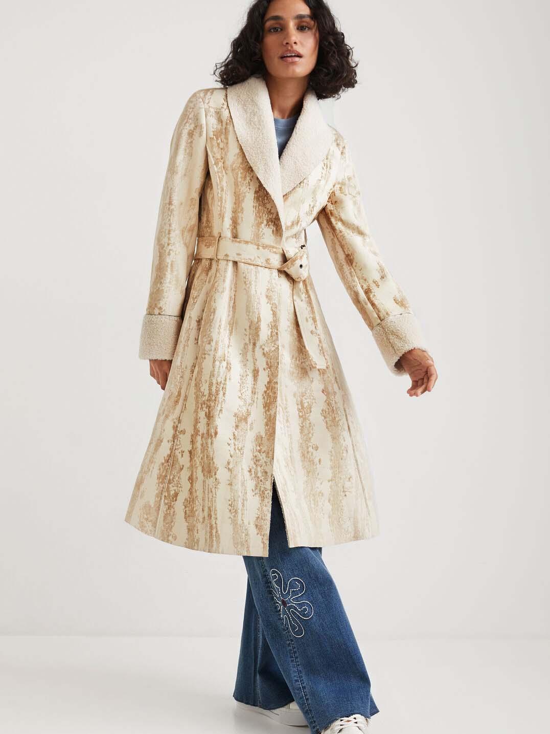 Desigual béžový kabát Marvelous - XL