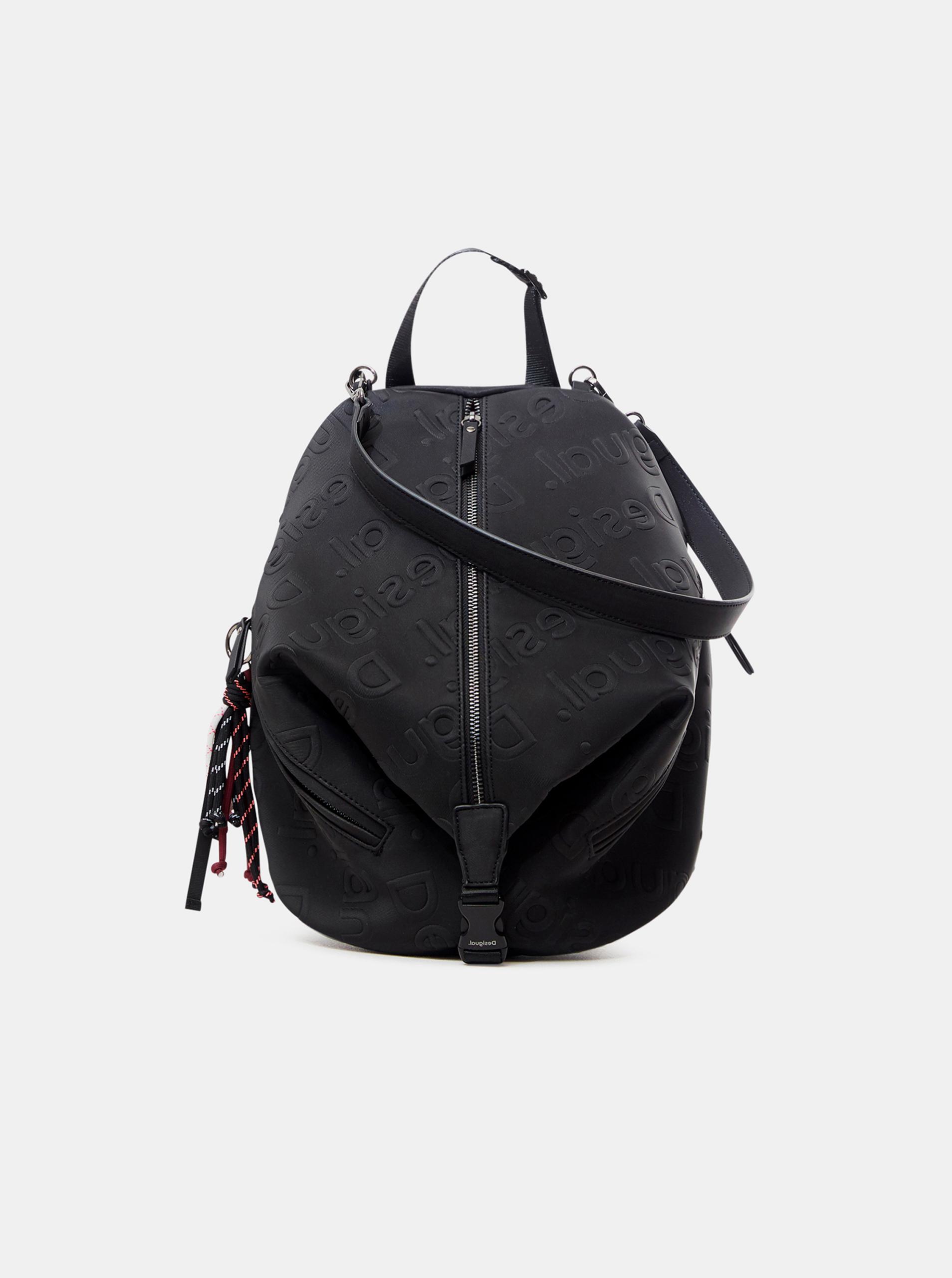 Černý dámský vzorovaný batoh Desigual Galia Viana Mini