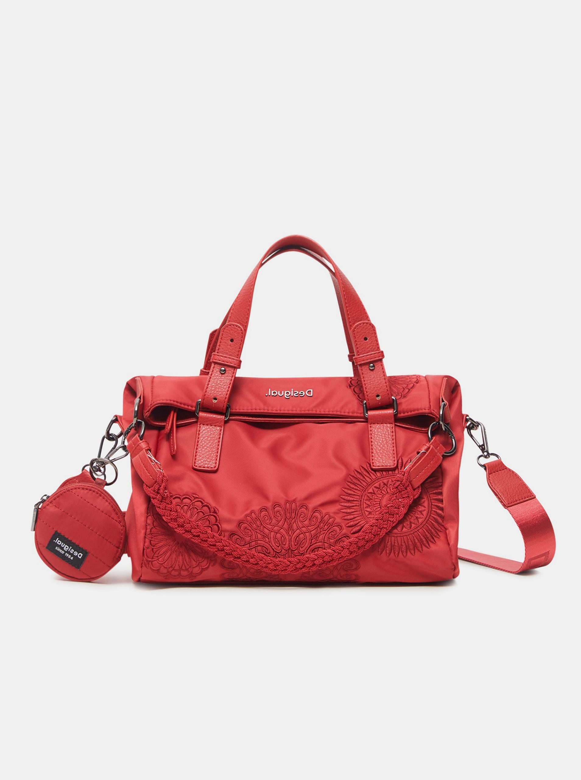Červená dámská vzorovaná kabelka Desigual Mandrala Loverty 2.0