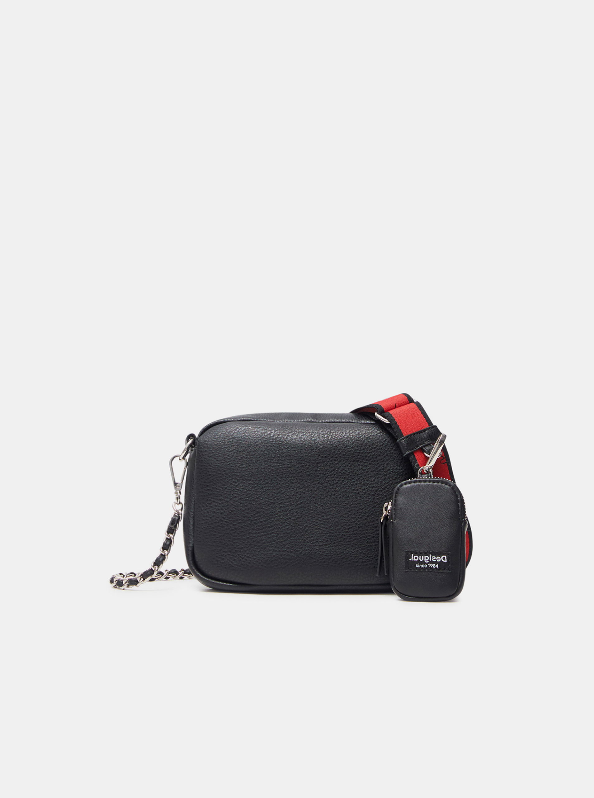 Černá dámská crossbody kabelka Desigual Embossed Half Cambridge Mini