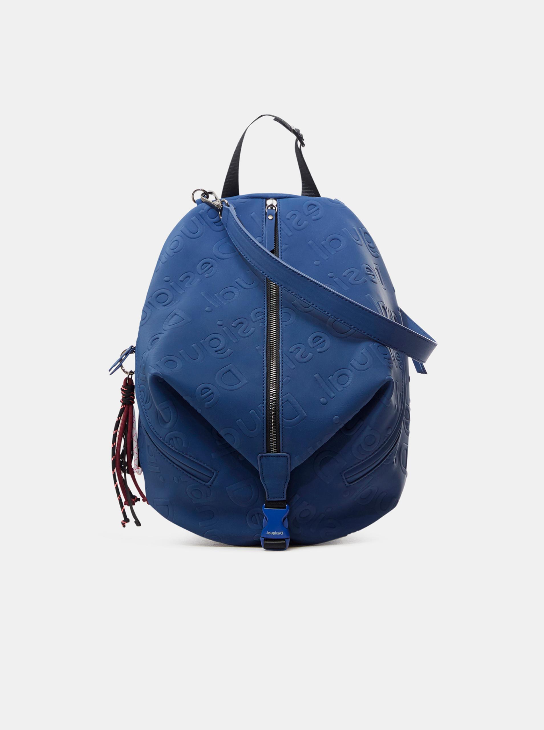 Modrý dámský vzorovaný batoh Desigual Galia Viana Mini