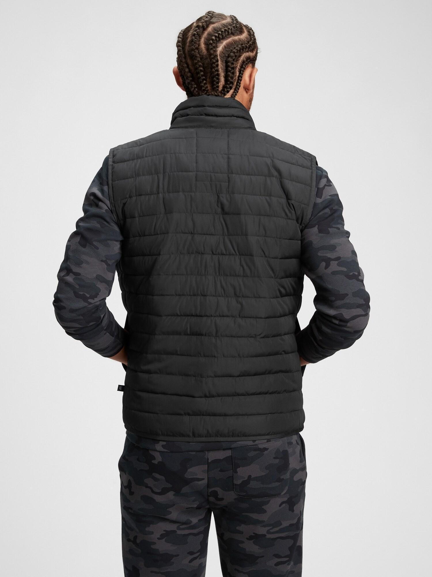 Černá pánská vesta lightweight puffer