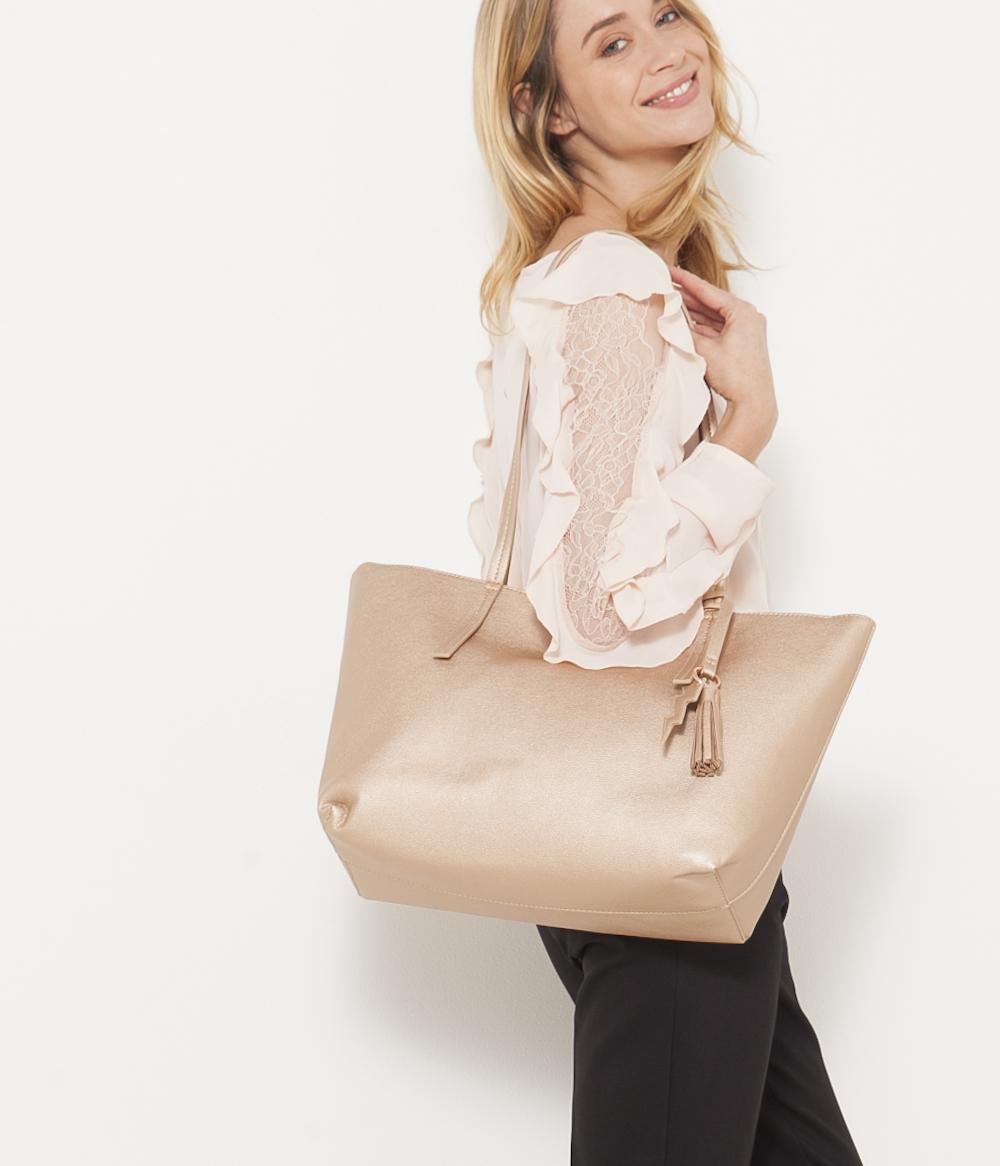 Světle růžový shopper CAMAIEU