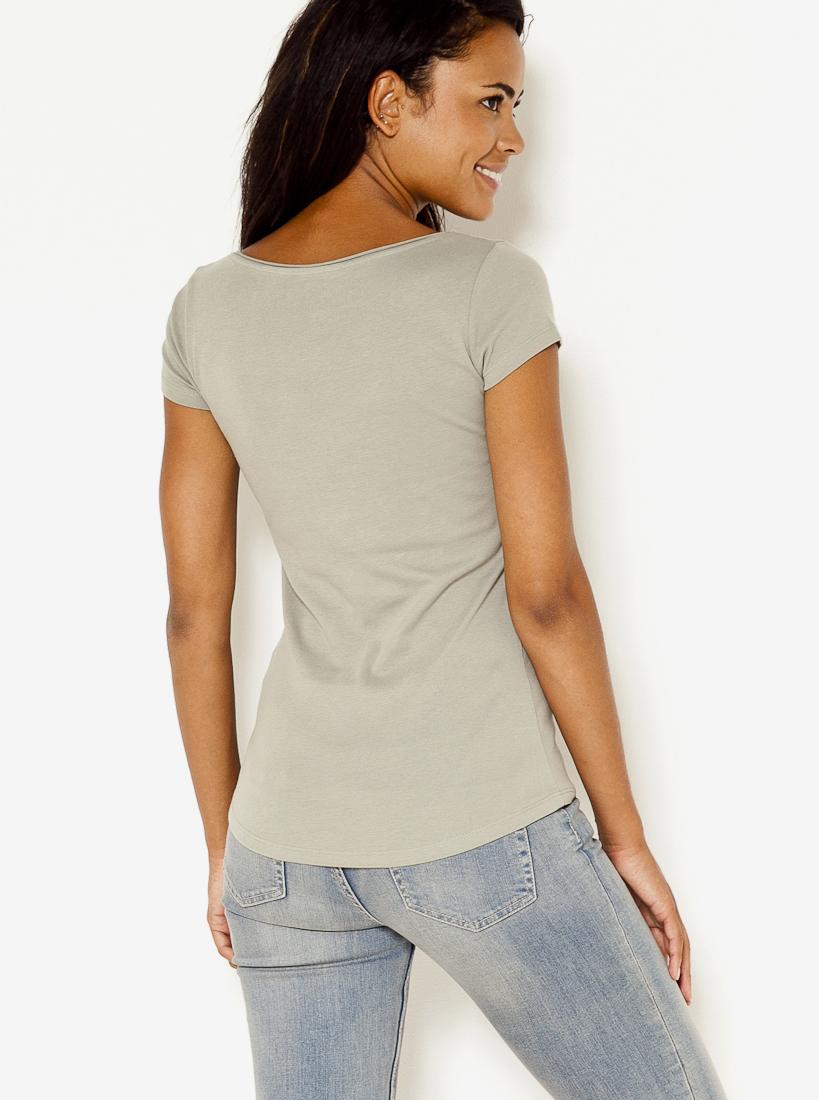 Světle šedé basic tričko CAMAIEU