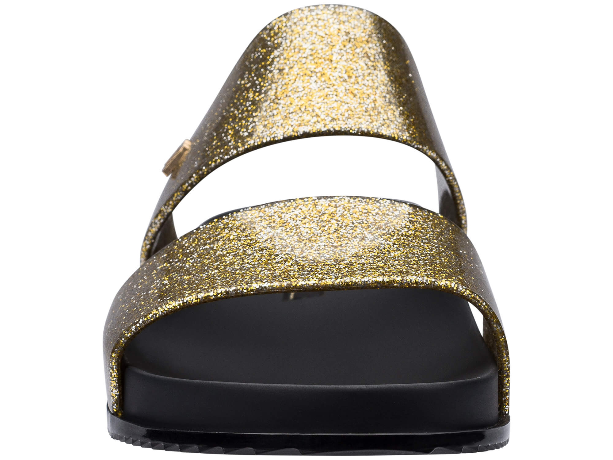 Melissa zlaté pantofle Cosmic Glass Glitter/Black