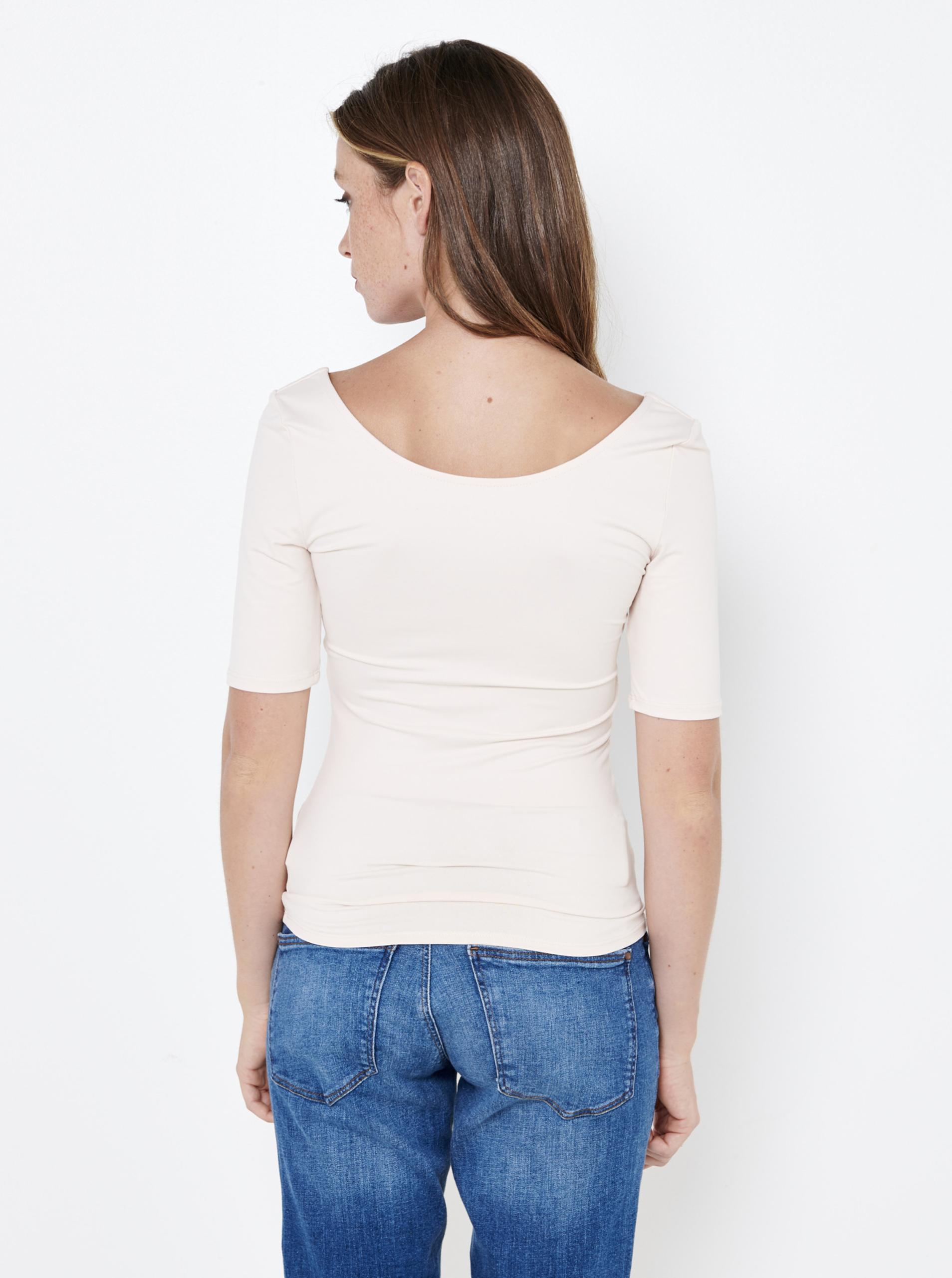 Bílé tričko s výstřihem CAMAIEU
