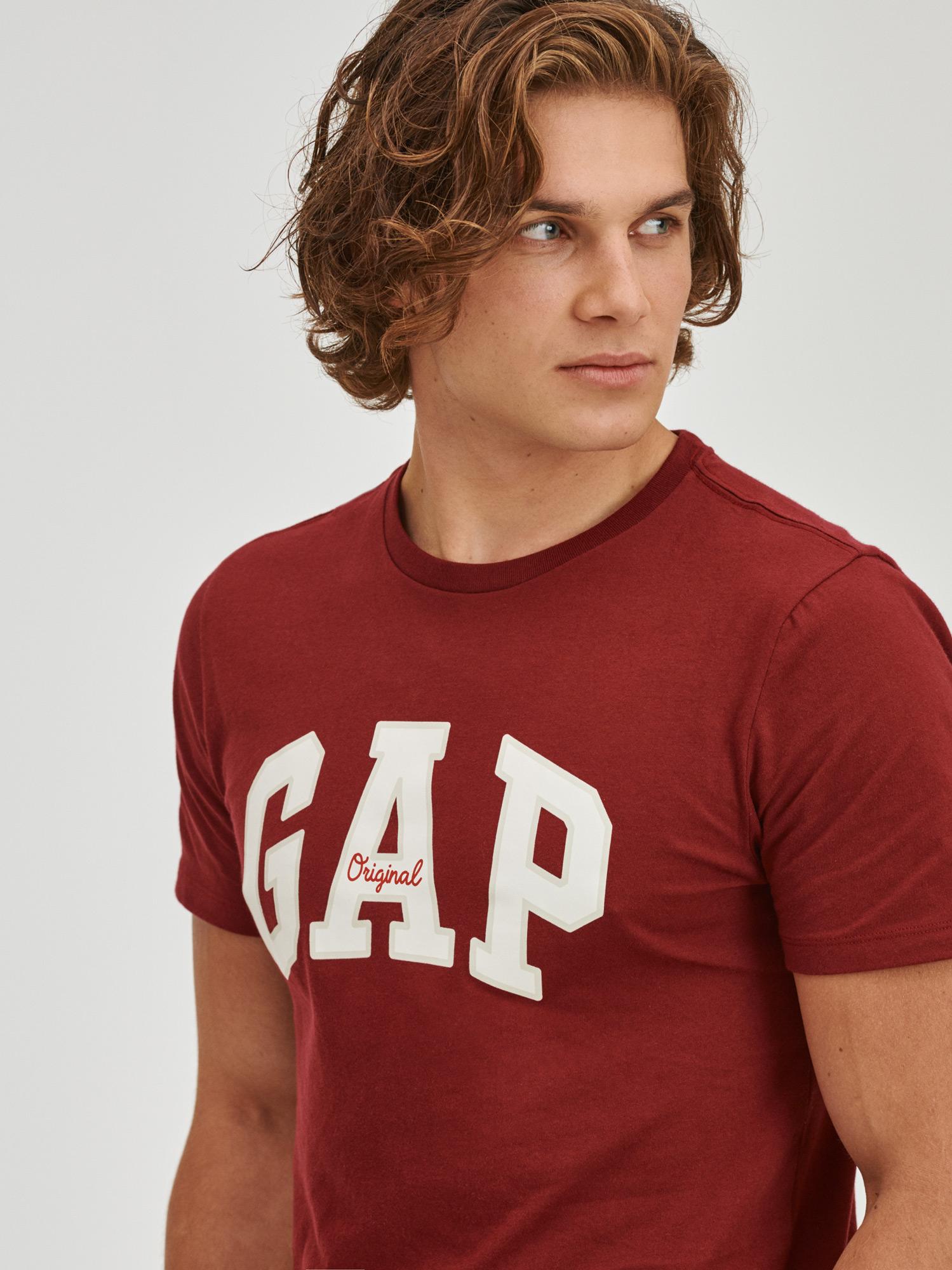 Vínové pánské tričko s logem GAP
