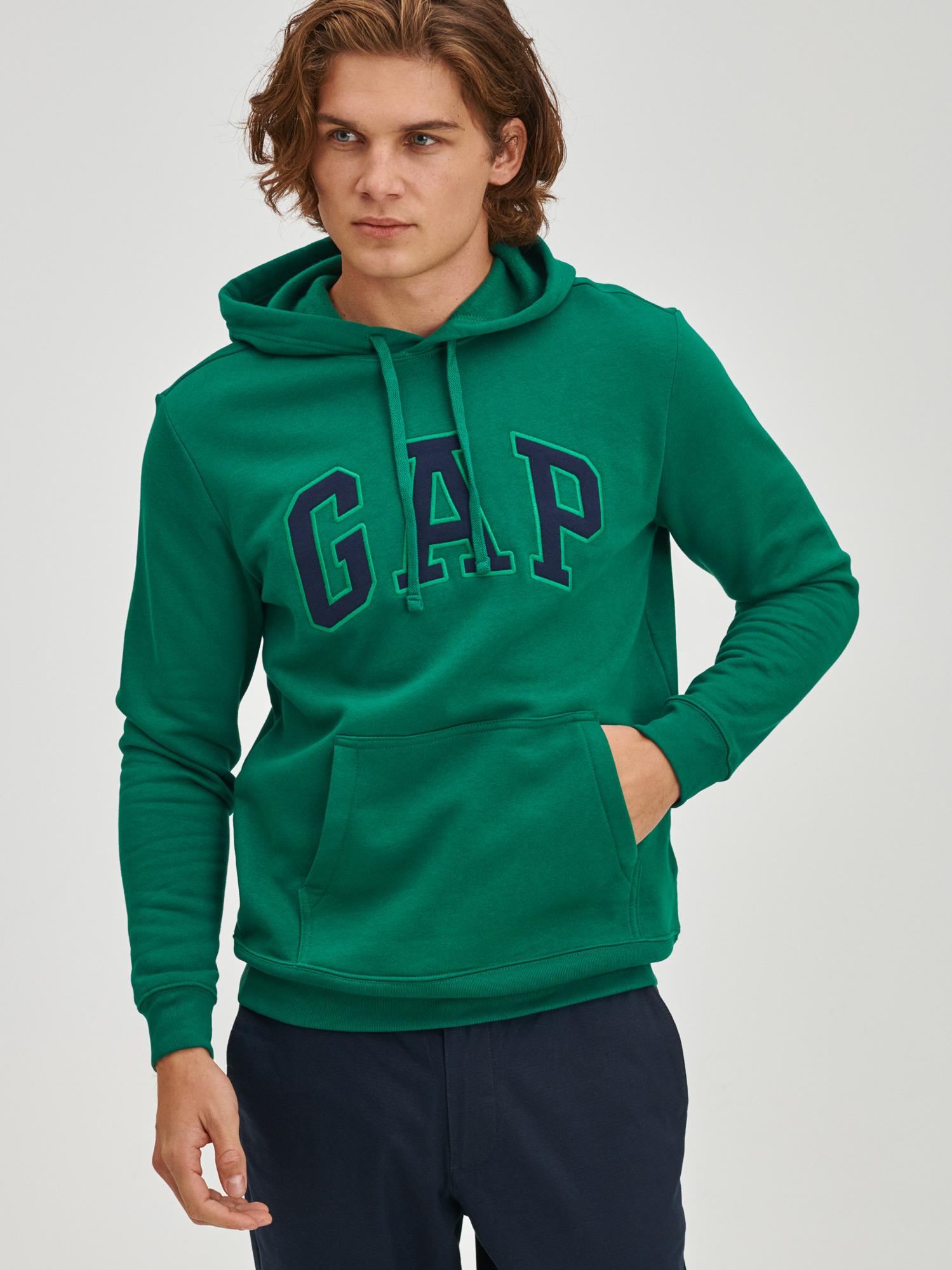 Zelená pánská mikina s logem GAP heritage