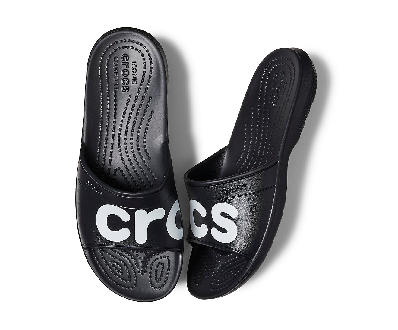 e76a7f14346 Crocs černé unisex pantofle Classic Graphic Slide Black White - M4 W6