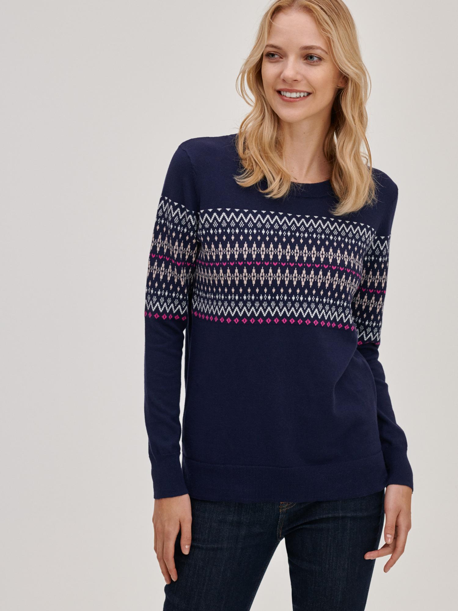 Modrý dámský svetr Pletený se vzorem GAP - XXS