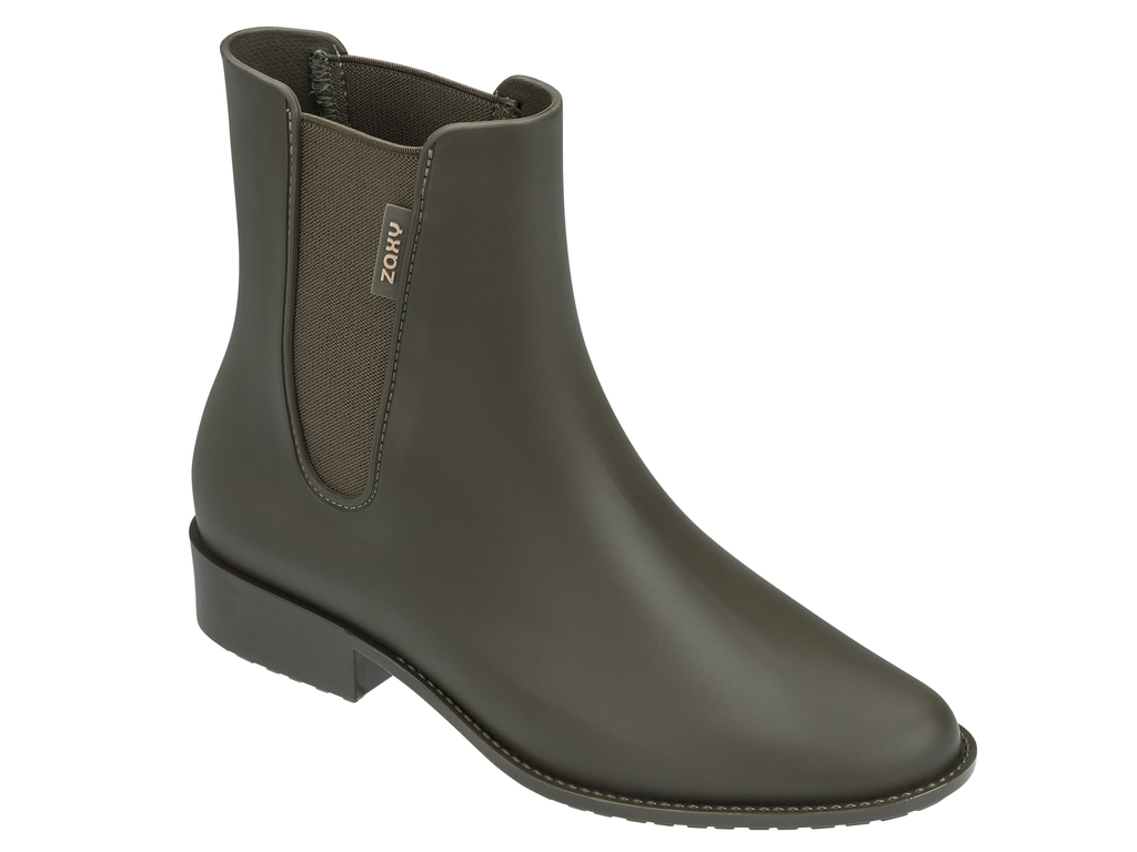Zaxy khaki holínky London Boot II Fem Green