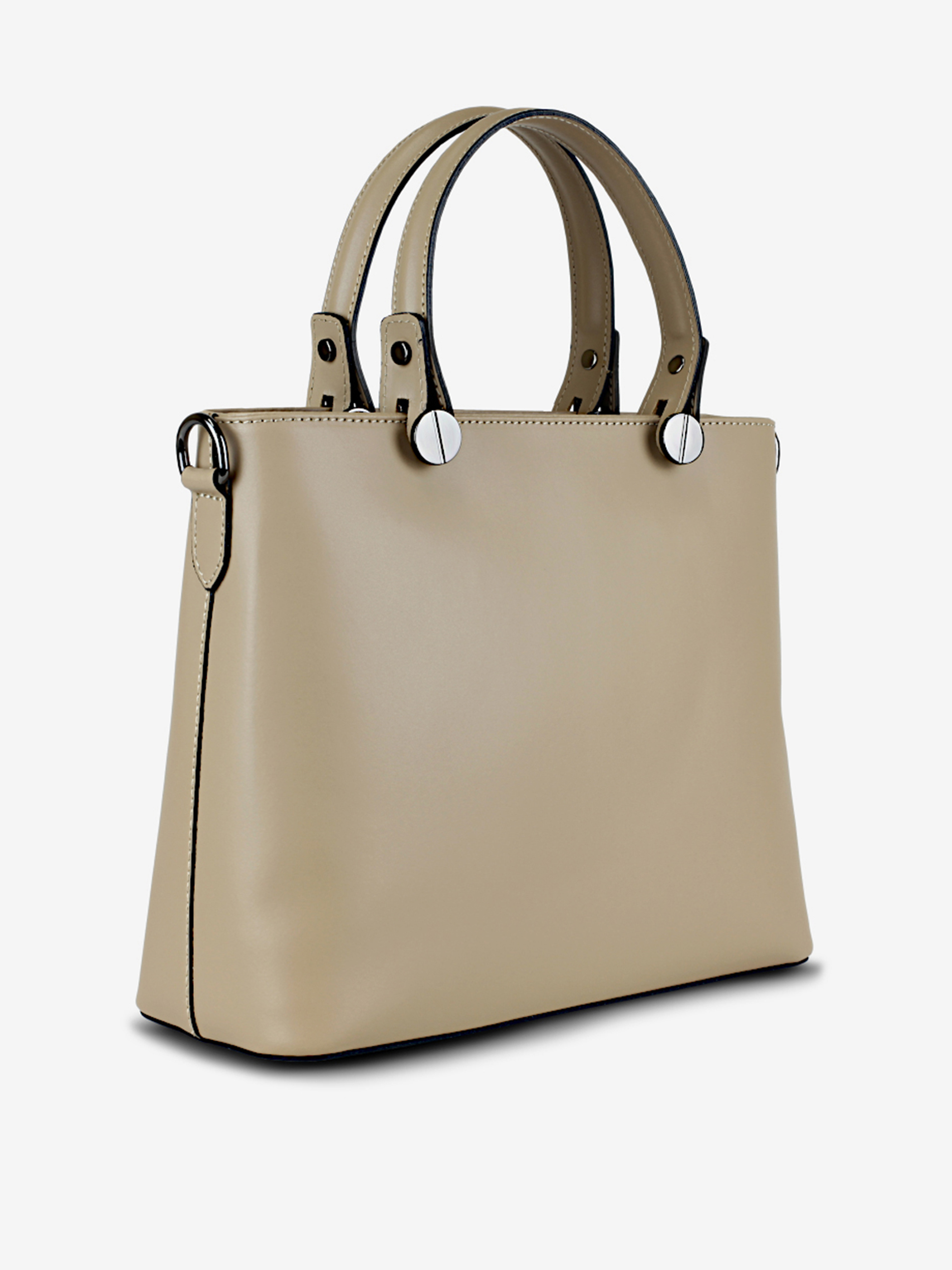Béžová dámská kožená kabelka KARA