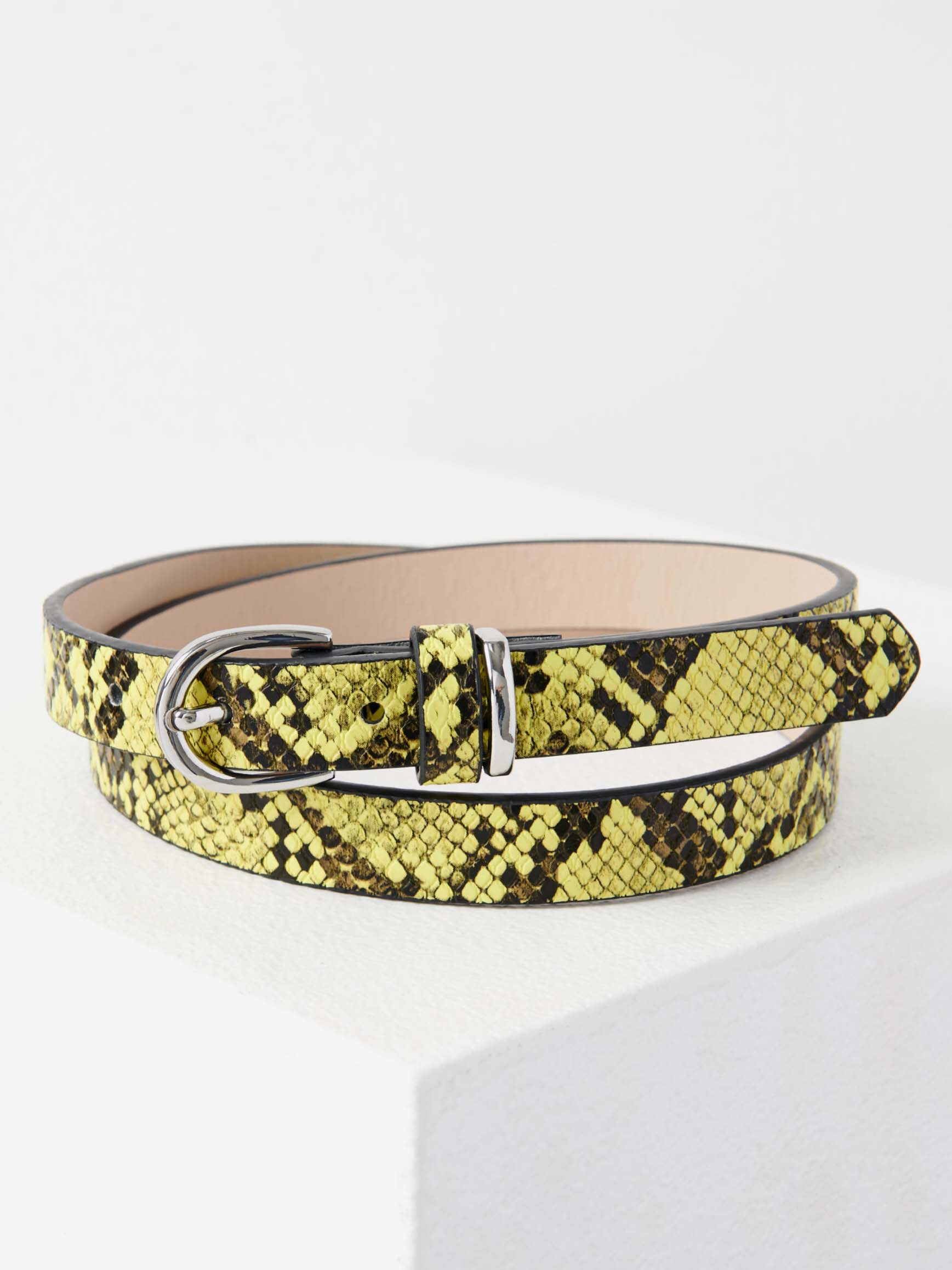 Zeleno-žlutý pásek s hadím vzorem CAMAIEU