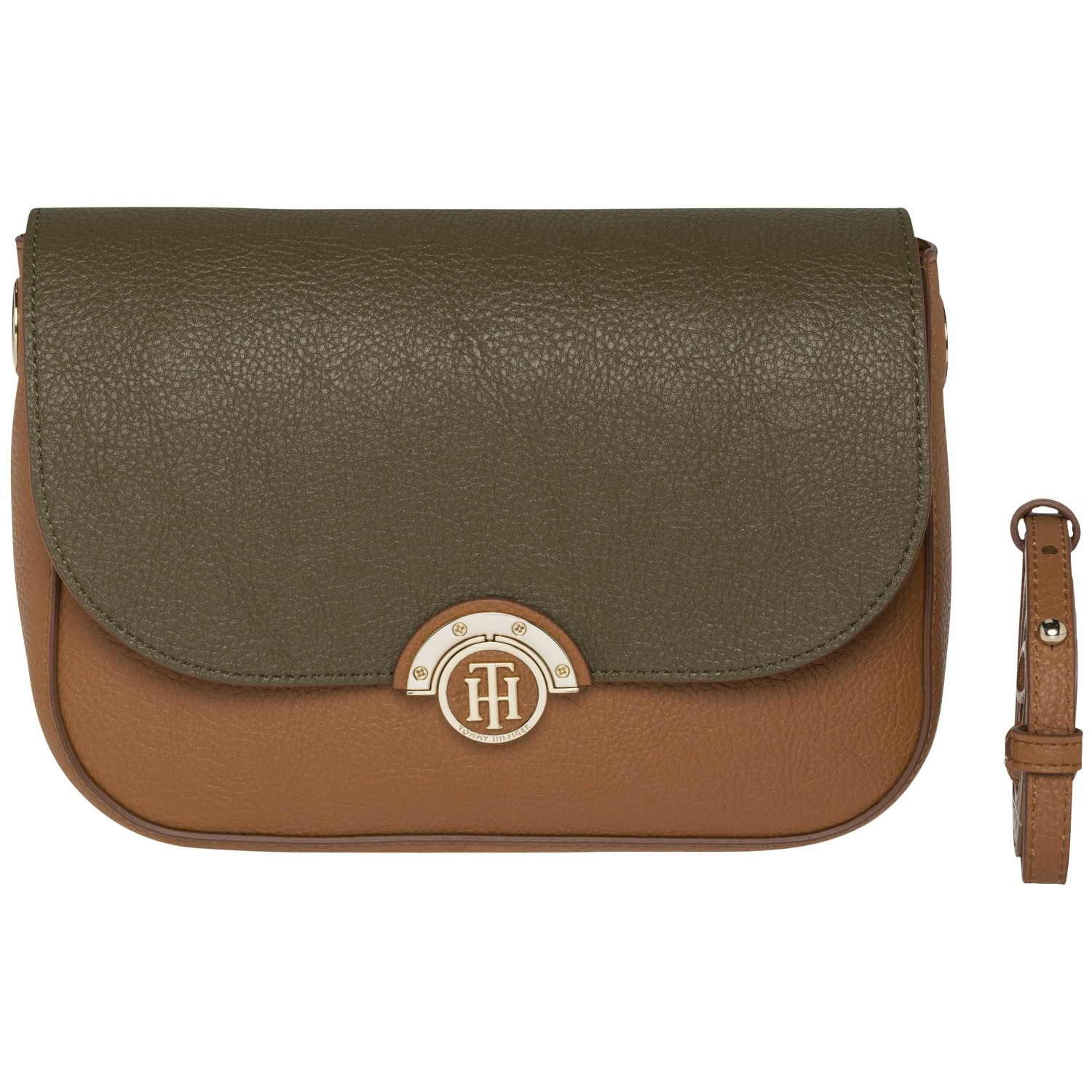 Tommy Hilfiger hnědá crossbody kabelka Effortless Novelty Med Crossover