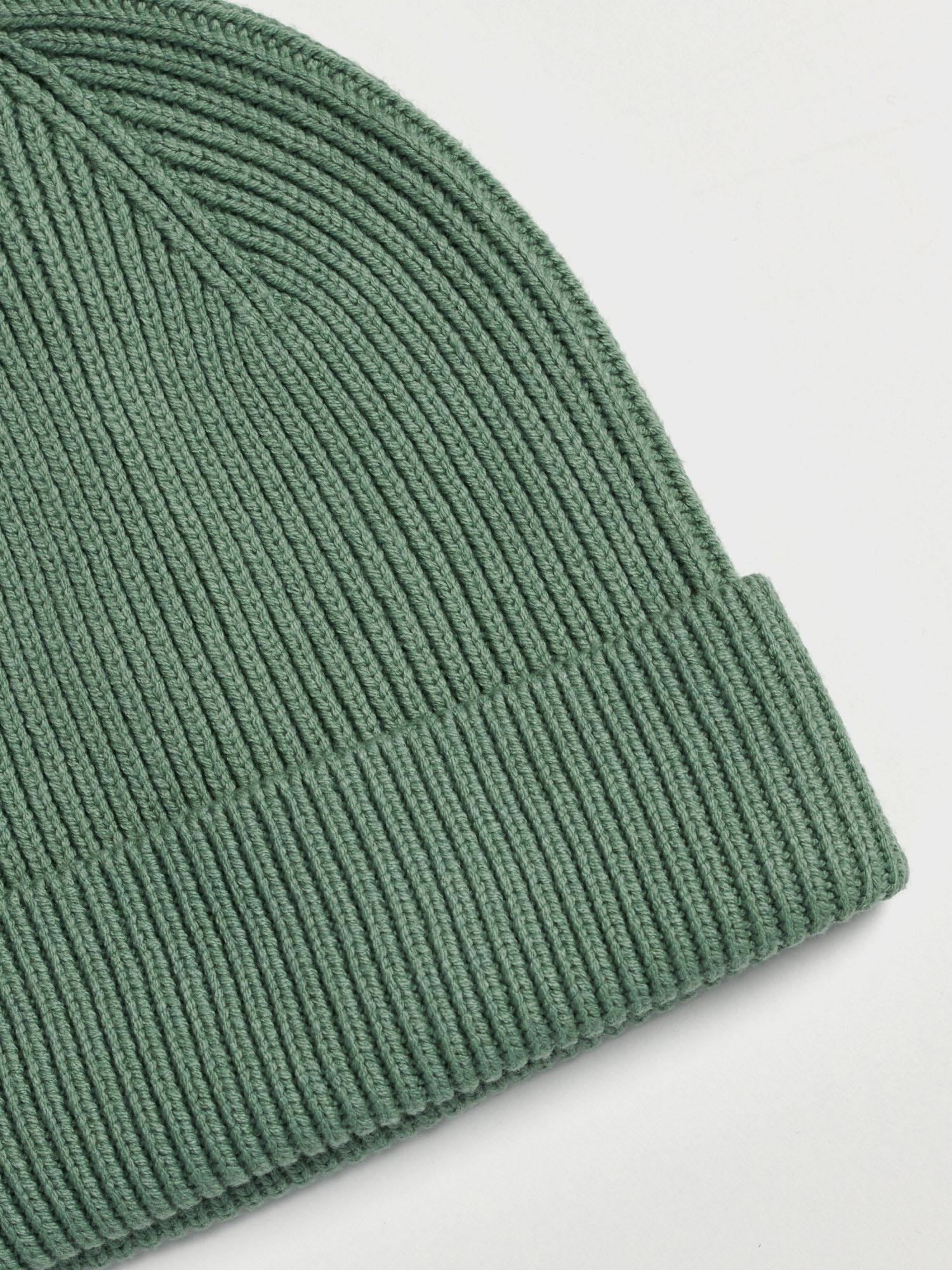 Doplňky - Dětská žebrovaná čepice Beanie Zelená