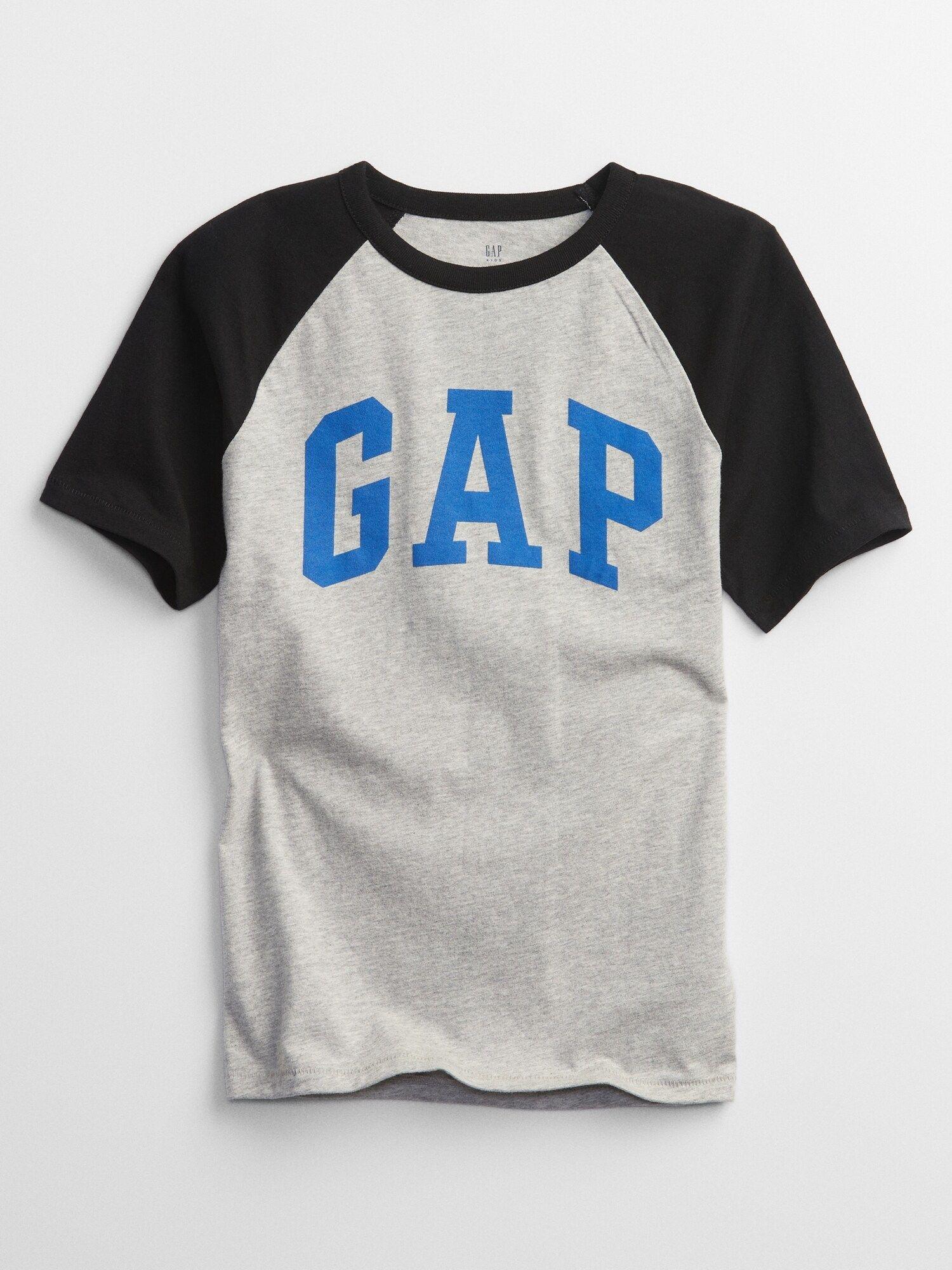 Chlapci - Dětské tričko GAP logo short sleeve Šedá