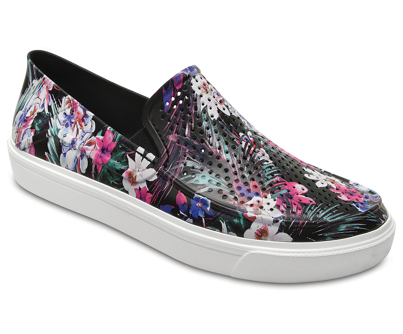 Crocs barevné slip-on boty Citilane Roka Graphic Tropical