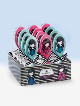 Santoro růžový kartáč na vlasy Gorjuss Ladybird
