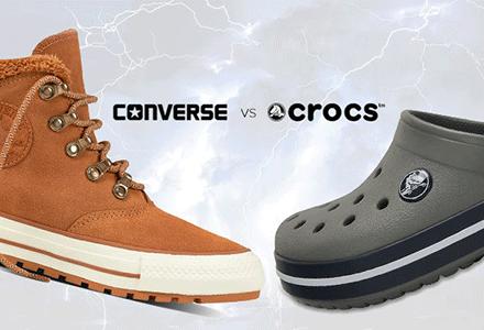 Výprodej a Souboj velkých titánů - Converse a Crocs!