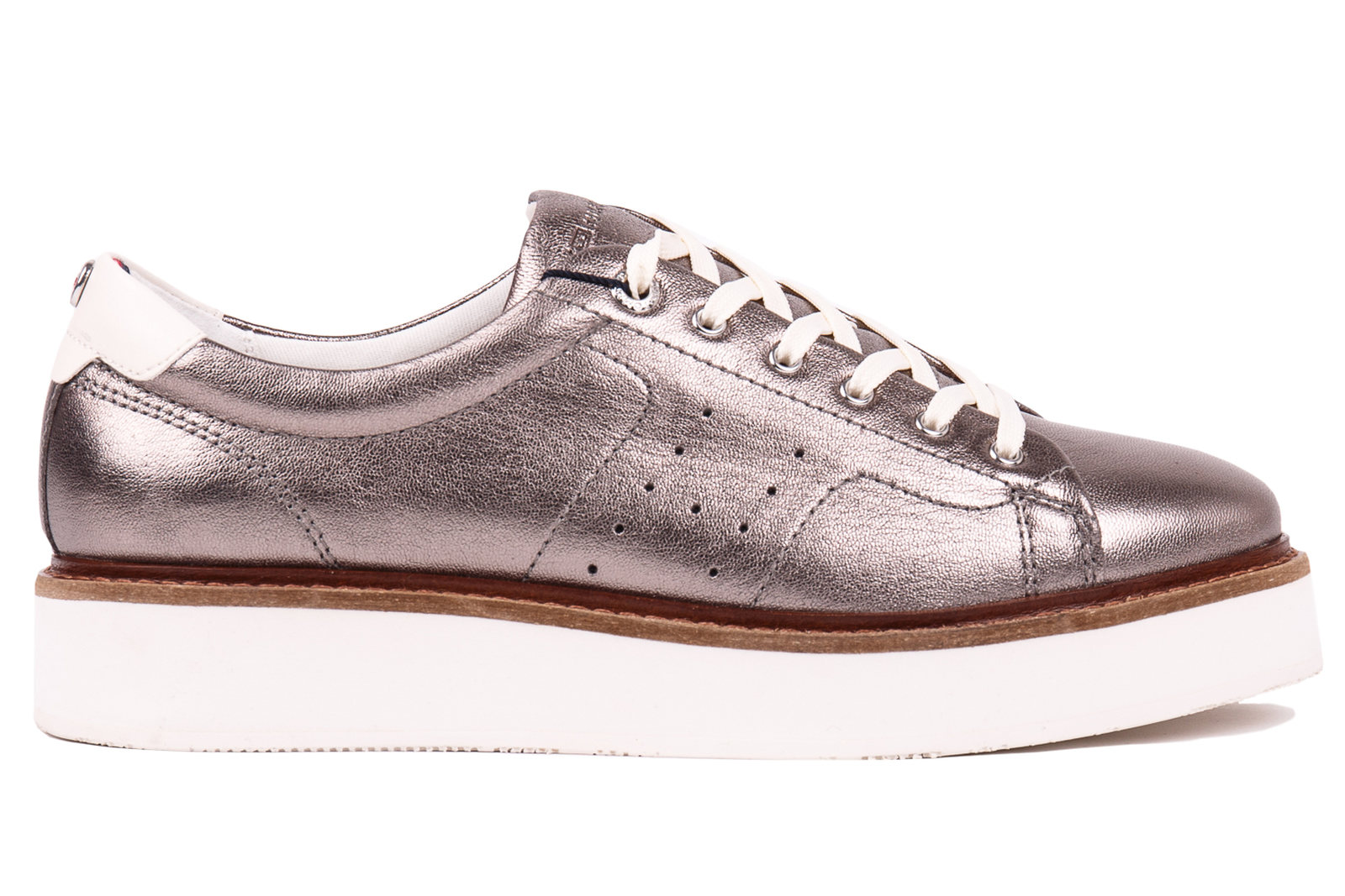 Tommy Hilfiger metalické boty Metallic Hybrid Leather Sneaker