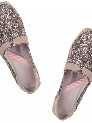 Butterfly Twists metalické boty Maya Rose Gold Glitter/Fawn Suede - 42