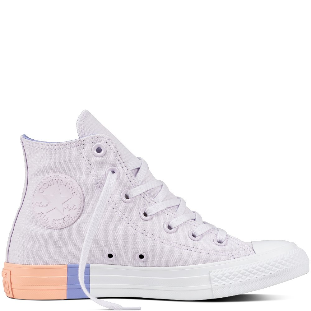 8fe1e7a115 Converse fialové tenisky Chuck Taylor All Star CTAS Hi Barely  Grape Twilight Pulse
