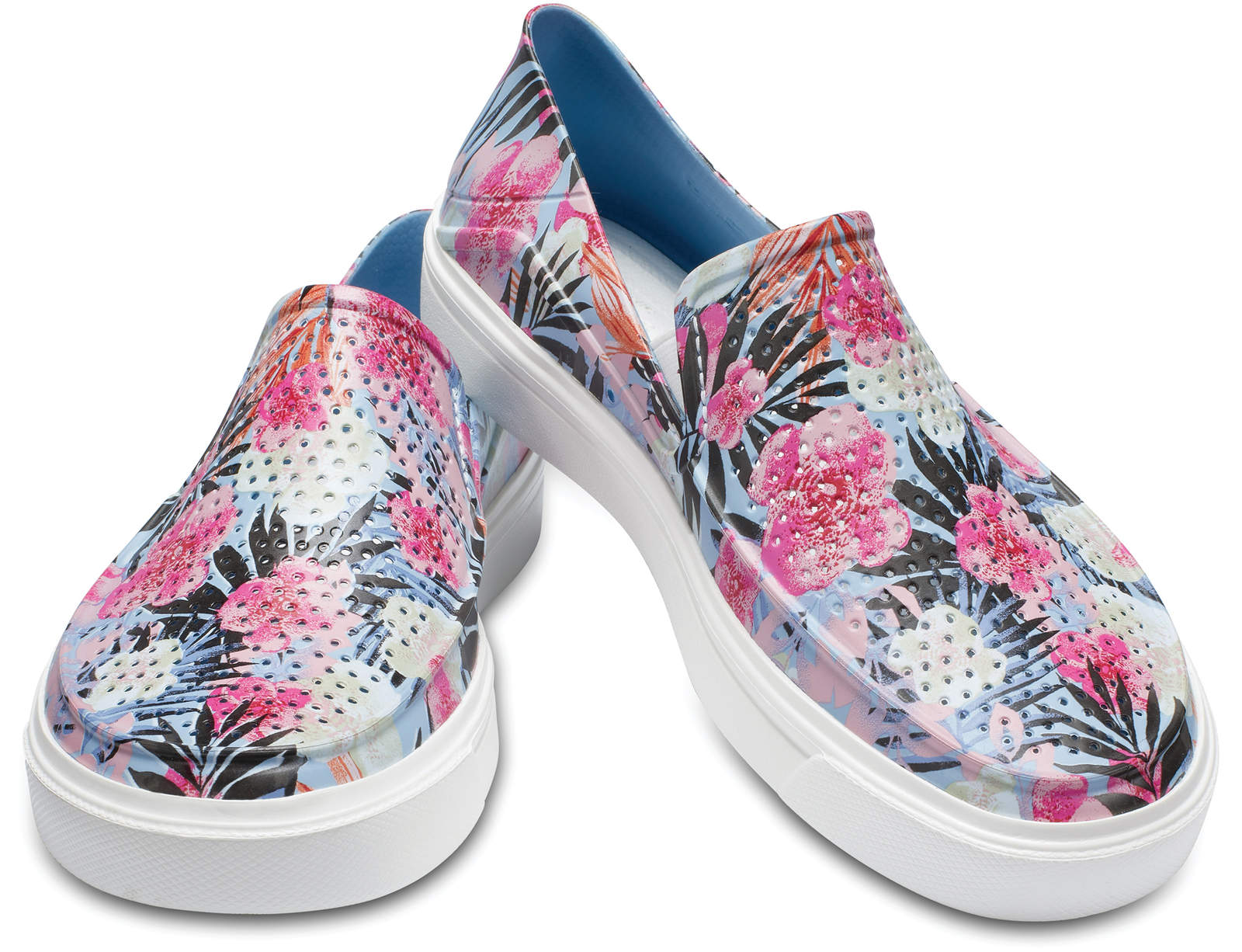 Crocs barevné slip-on boty Citilane Roca Graphic Tropical Floral