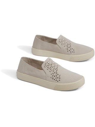 Toms krémové slip-on Sunset Birch Suede Mosaic Tile - 38
