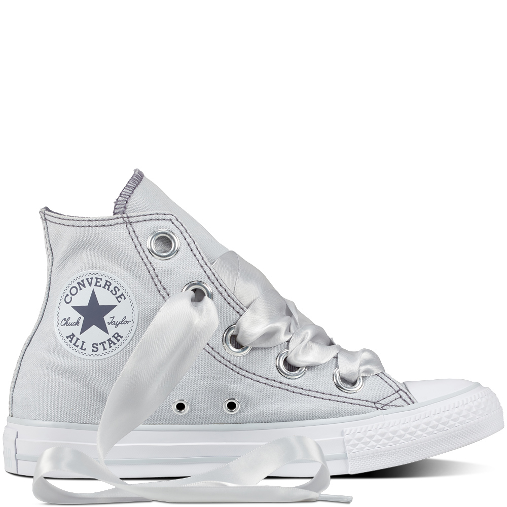 36d0c59f5f9 Converse světle šedé tenisky Chuck Taylor All Star Big Eyelets Hi Pure  Platinum Light Carbon