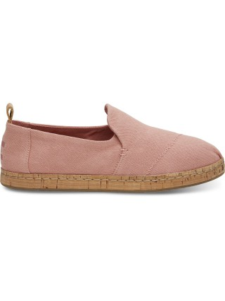 Toms růžové espadrilky Deconstructed Alpargata Cork Bloom Hemp - 38