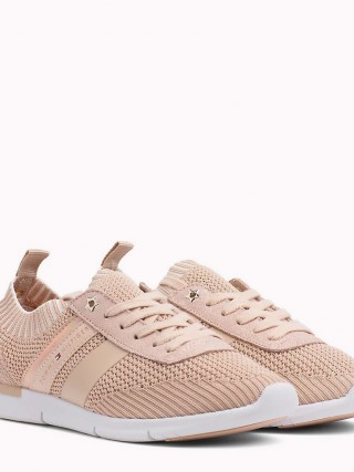 Tommy Hilfiger pudrové tenisky Knitted Light Weight Sneaker  - 41