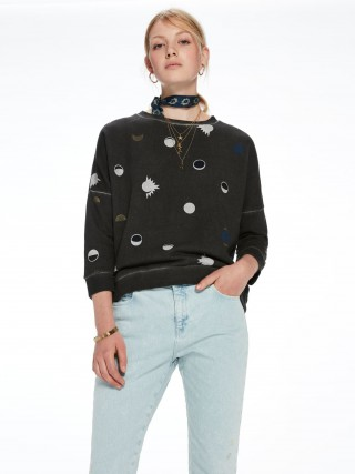 Scotch&Soda šedá mikina Dropped Shoulder Sweater - L