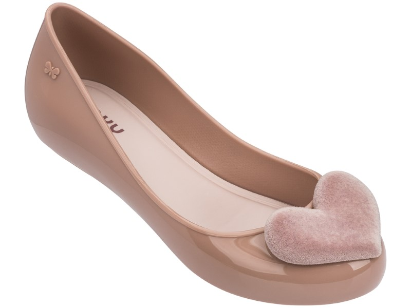 Zaxy pudrové baleríny New Pop Heart Fem Pink/Light Pink