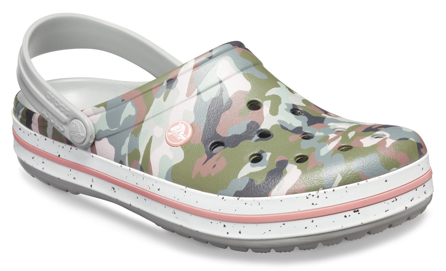 Crocs maskáčové pantofle Crocband Graphic III Camo/Light Grey