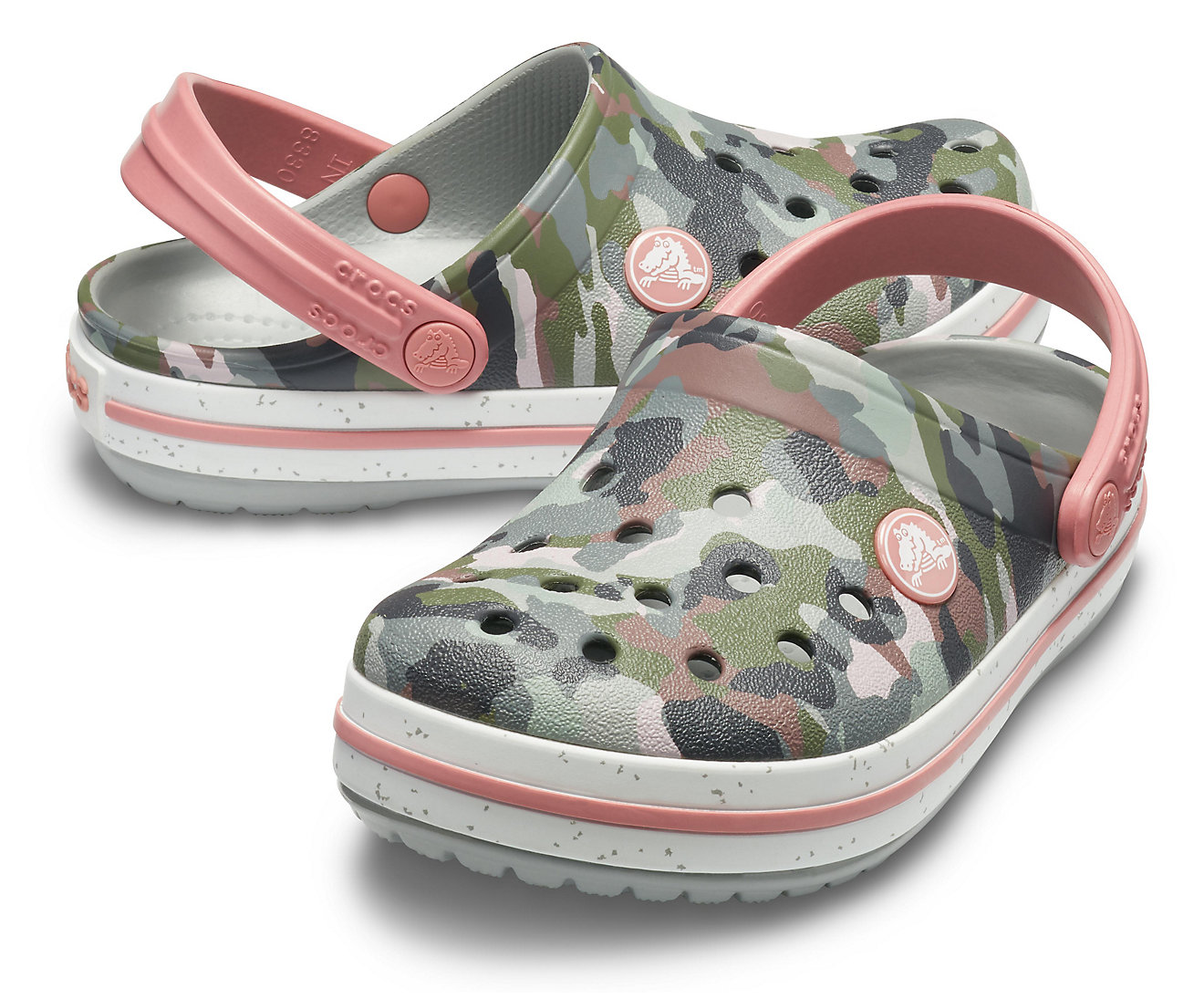 Crocs maskáčové pantofle Crocband Camo Spec Clog Camo/Light Grey