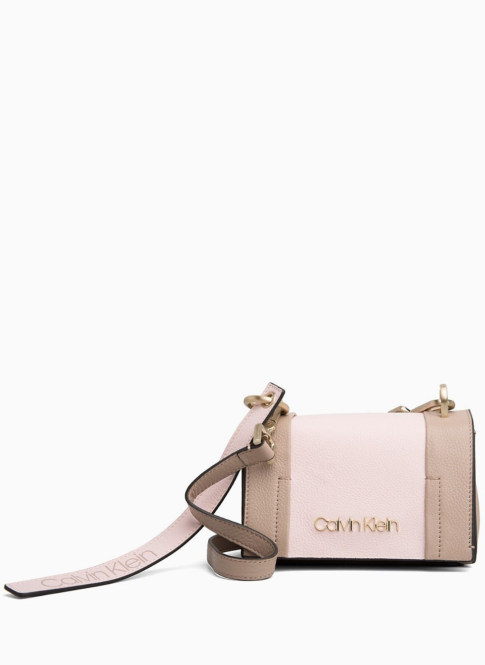 Calvin Klein kožená crossbody kabelka City Leather Small Fla