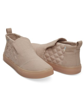 c2f4500282b Toms pudrové boty Paxton Dark Blush Textural Canvas Quilted Nylon Water  Resistant