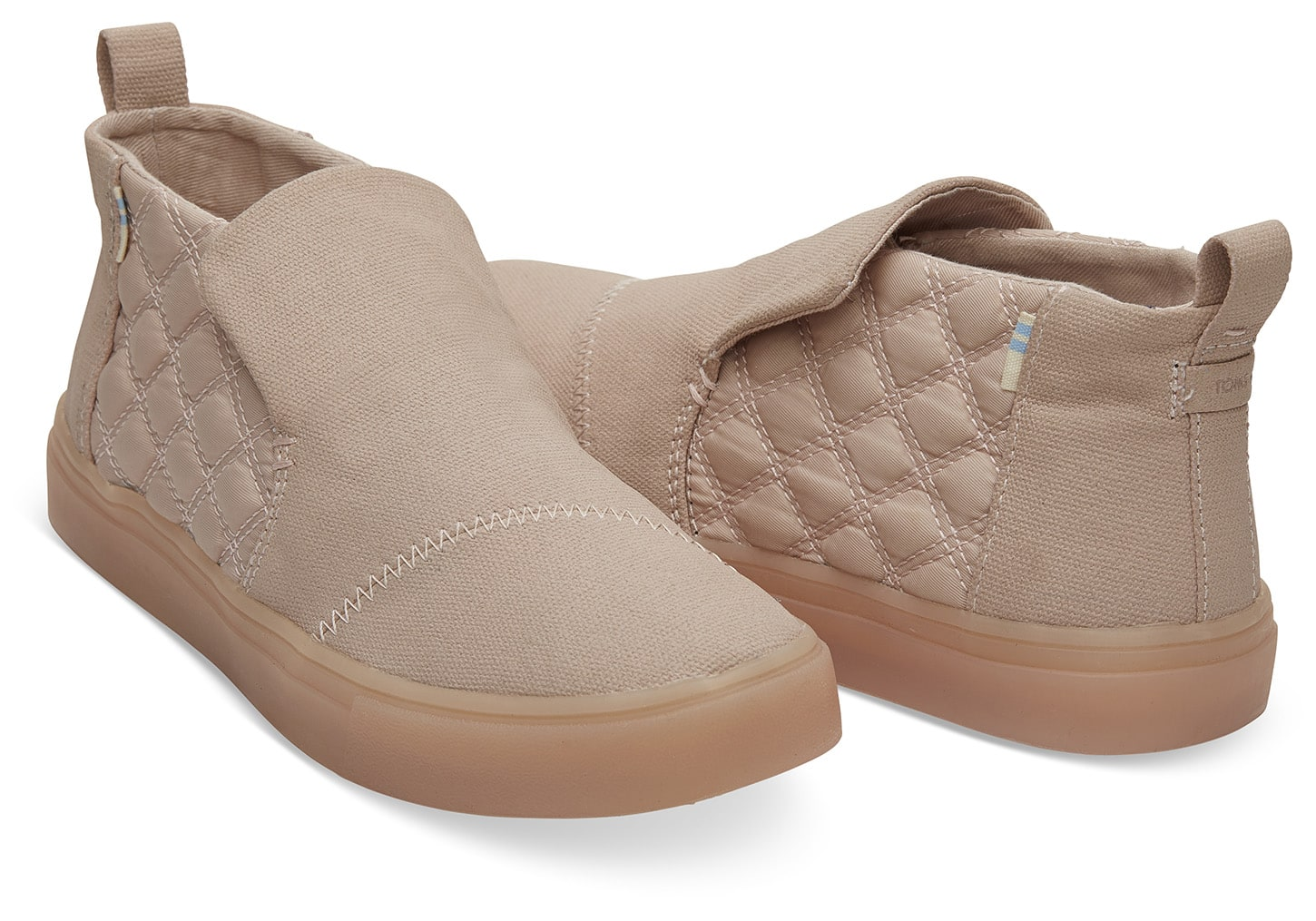 Toms pudrové boty Paxton Dark Blush Textural Canvas/Quilted Nylon Water Resistant - 37
