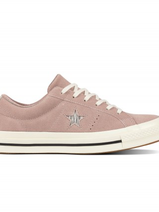 Converse pudrové kožené tenisky Chuck Taylor One Star OX Diffused  Taupe Silver Egret 3be0ded10a0