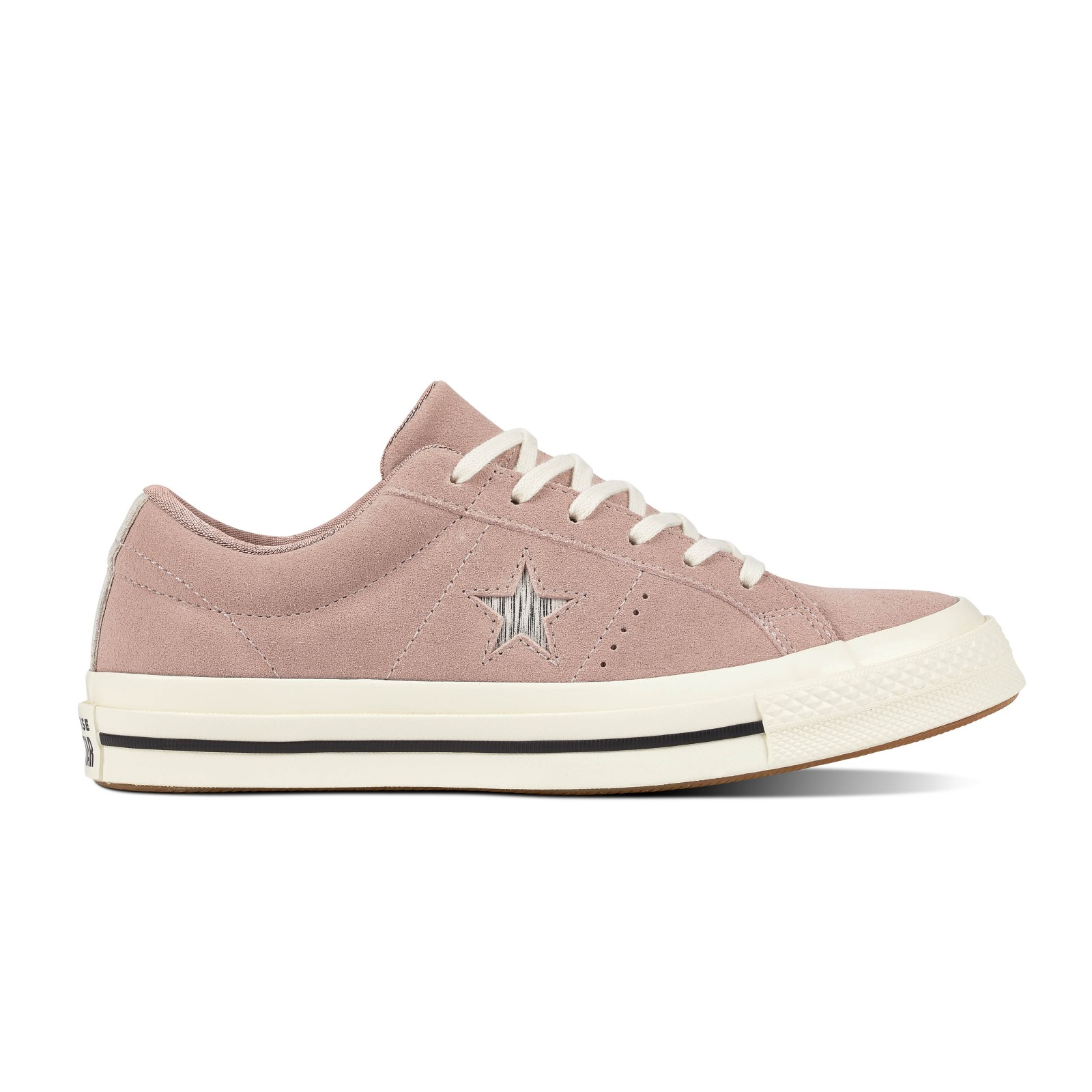 Converse pudrové kožené tenisky Chuck Taylor One Star OX Diffused Taupe/Silver/Egret