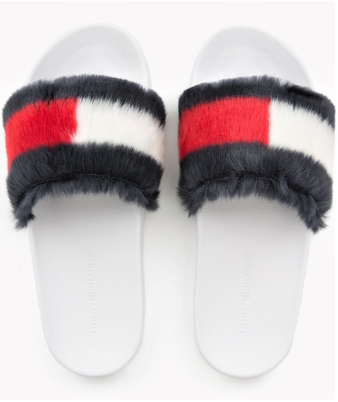22f3374fb08 Tommy Hilfiger chlupaté pantofle Funny Fur Pool Slide - 40
