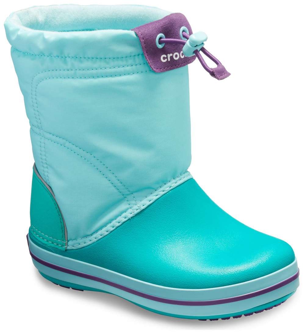 10aa937f36 Crocs tyrkysové sněhule Crocband Lodgepoint Boot Ice Blue Tropical Teal - j1