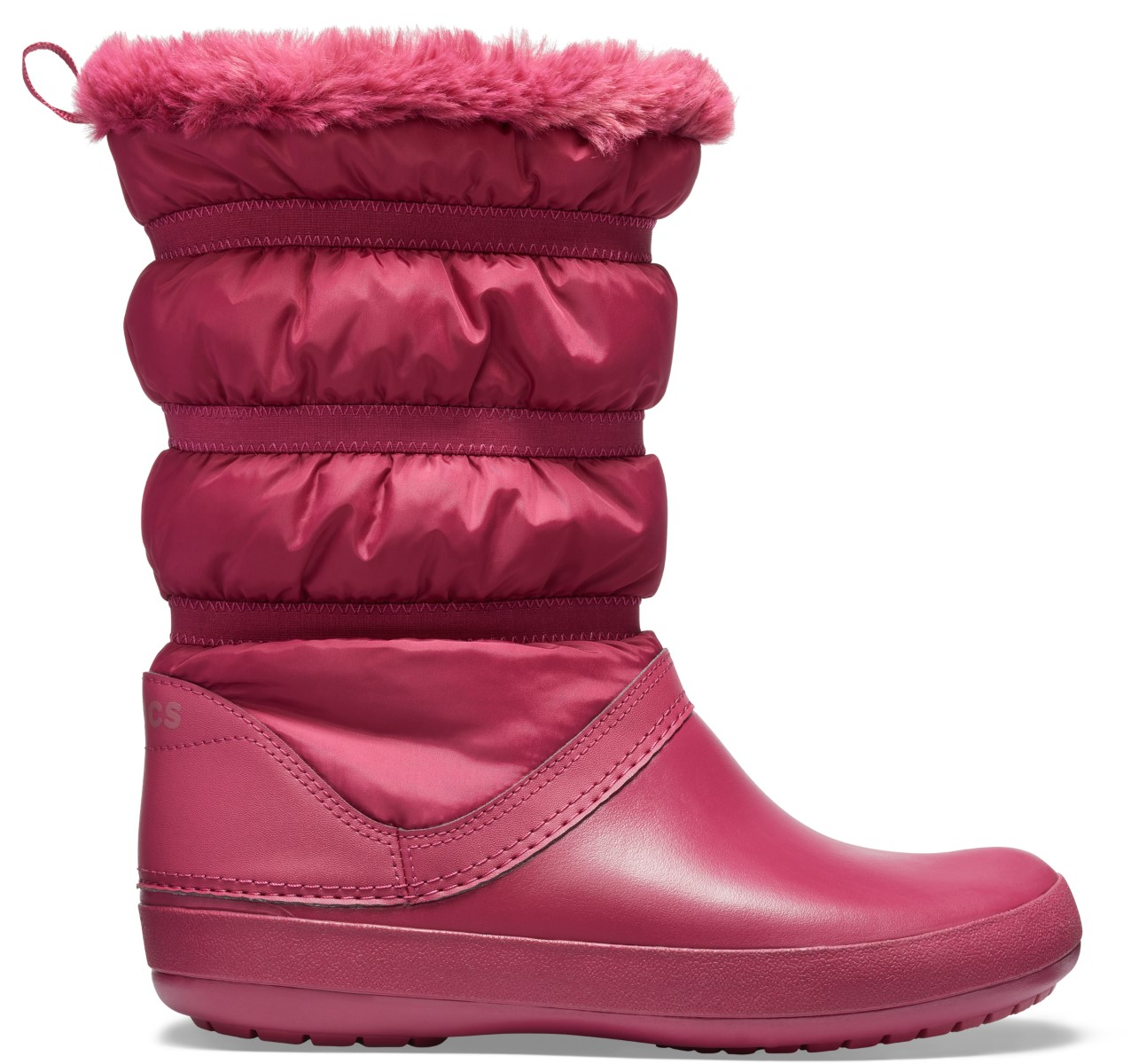 Crocs fuchsiové sněhule Crocband Winter Boot Pomegranate