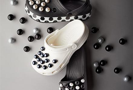 Perla mezi obuví-nové Crocs