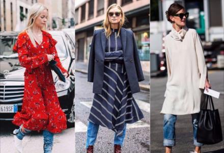 Jak nosit šaty na podzim a zimu?