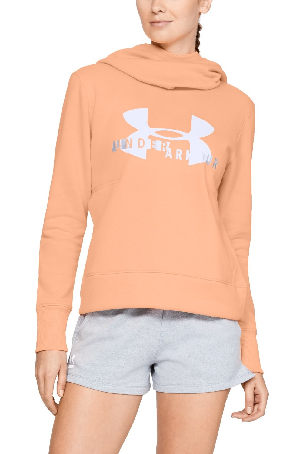 Under Armour lososová mikina Sportstyle Logo Hoodie