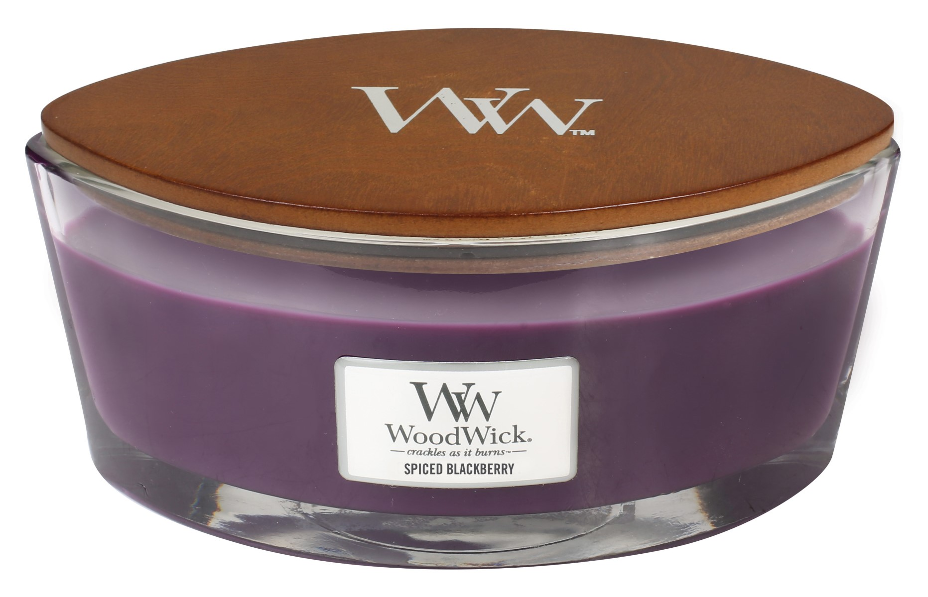 WoodWick vonná svíčka Spiced Blackberry loď