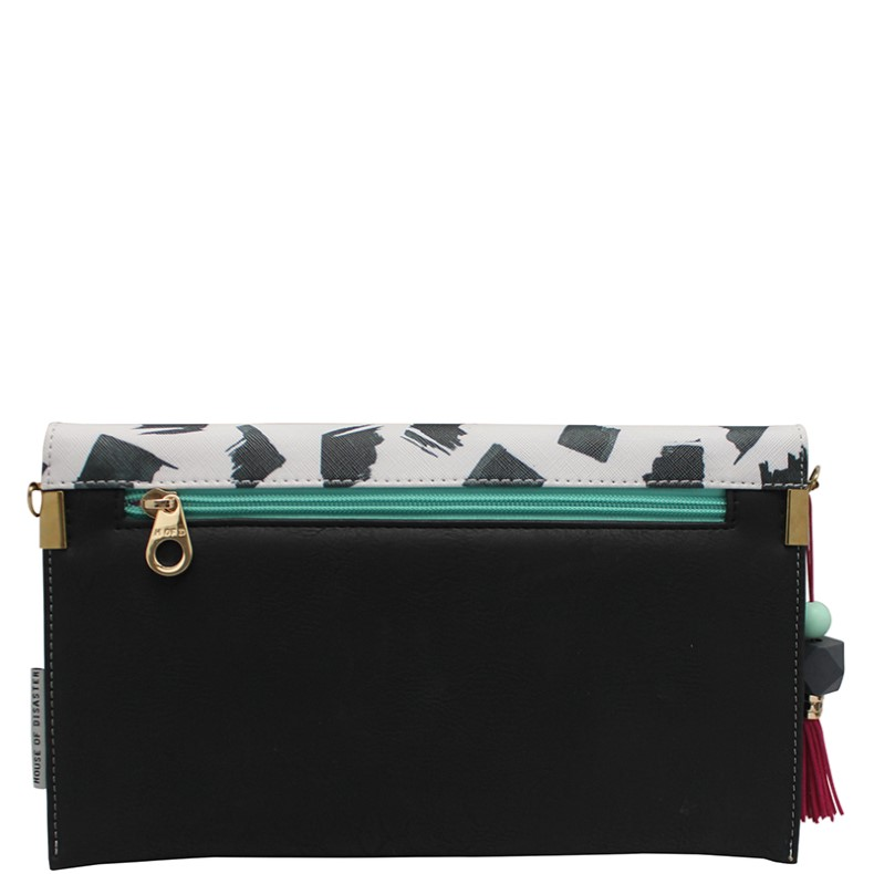Disaster crossbody kabelka Paint Black Clutch