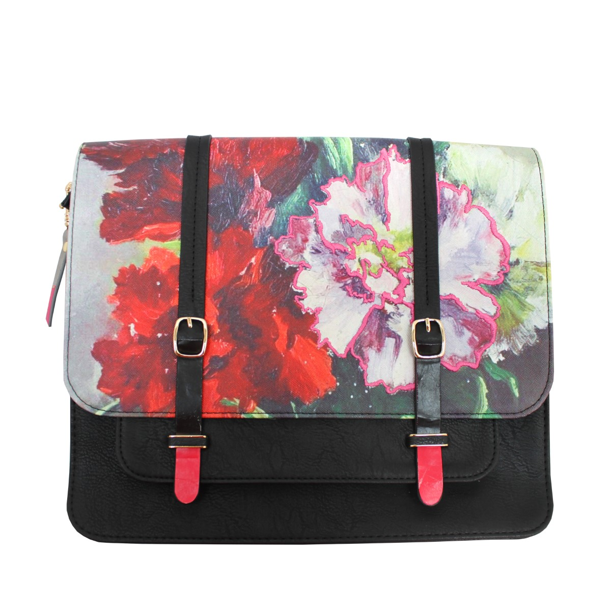 Disaster barevná crossbody aktovka Framed Red