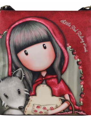 Santoro červená crossbody kabelka Gorjuss Little Riding Hood